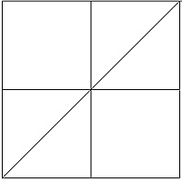 square was pattern A a fourpatch with two squares divided into  Quilt Patterns For Kids To Color
